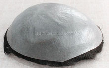 Alibaba express full hand made super thin skin human hair piece toupee