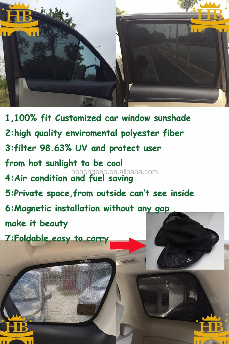 High quality Car Window Curtain / Auto Rear UV Sunshade
