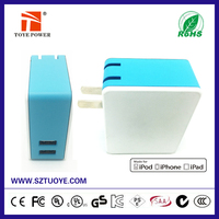 New!!! Multi function power bank & wall charger 2-in-1 usb wall charger power bank 3500mAh with dual usb port