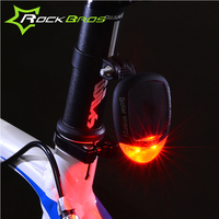 ROCKBROS Solar Energy LED Bicycle Tail Light Mountain Bike Solar Powered LED Taillight Warning Rear Light for Safety Cycling