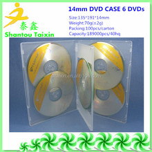 multi storage case 14mm for 6 dvds