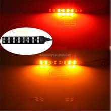 2x LED TURN SIGNALS BLINKERS TAIL LIGHT MOTORCYCLE INTEGRATED FLEXIBLE