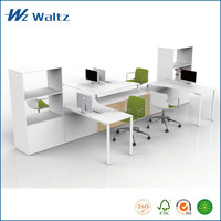 Steel fame with Melamine combined cheap industrial style office desk