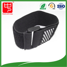 Fluorescent Reflective hook and loop nylon Strap Bands for hands