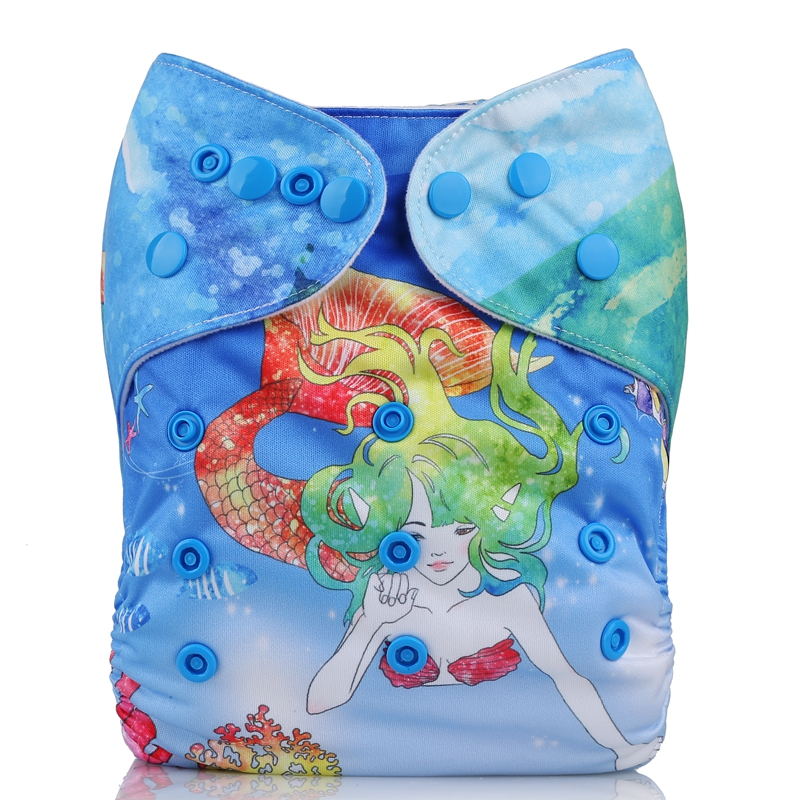 Customized reusable new eco-friendly waterproof position Baby pocket Cloth Diapers
