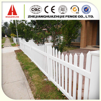 Small plastic fences for gardens