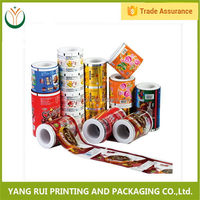 Free samples Side Gusset Flat Bottom laminating packaging roll film,plastic film roll for tomato