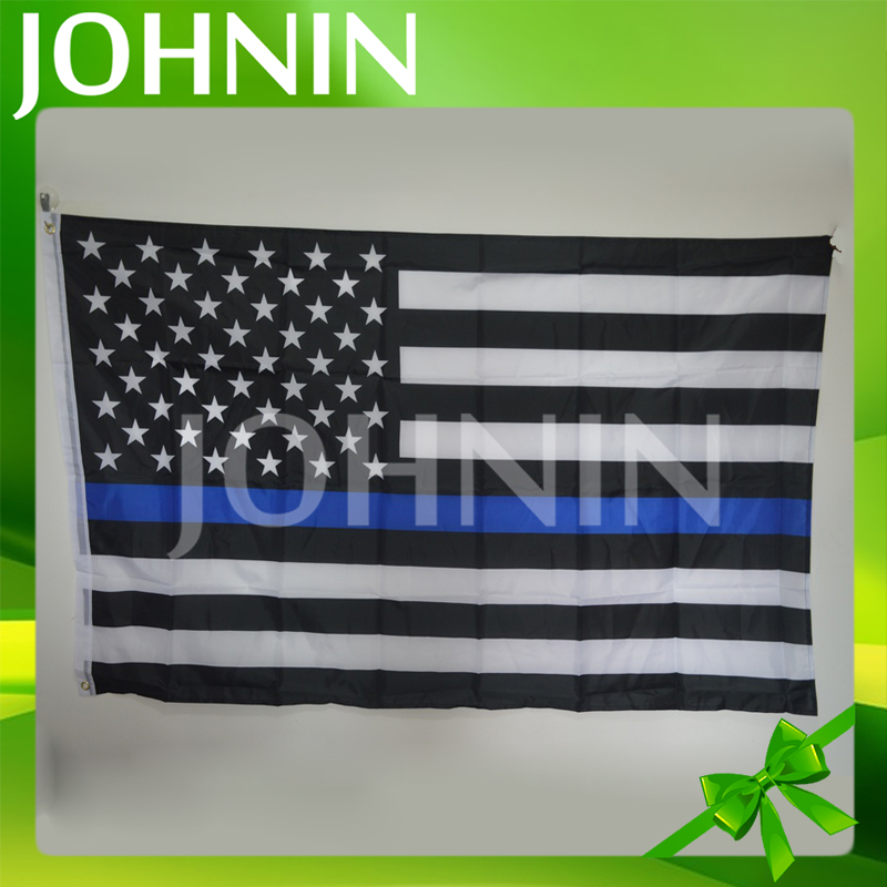 hot selling wholesale customized polyester american thin blue line flag