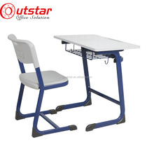 Cheap antique modern combo adjustable School desk and chair furniture