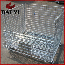 Factory Offer Collapsible Warehouse Storage Wire Mesh Pallet Cage