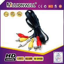 High end 3 rca to 3rca cable vga rca