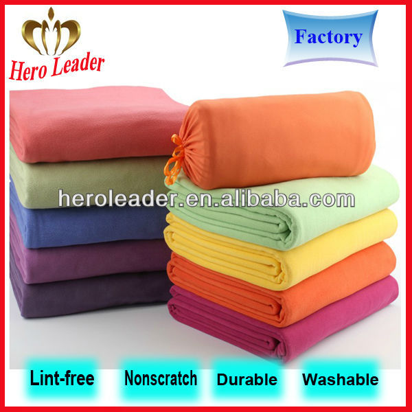 Various weight anti-static polar bear fleece blanket fabric