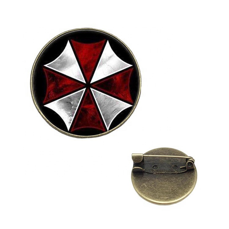 Resident Evil Round Shape Metal Epoxy Pin Badge Custom <strong>Logo</strong>