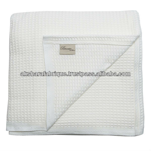 best quality cotton waffle blanket