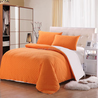 cotton jersey bedding set with pillowcase and fitted sheet