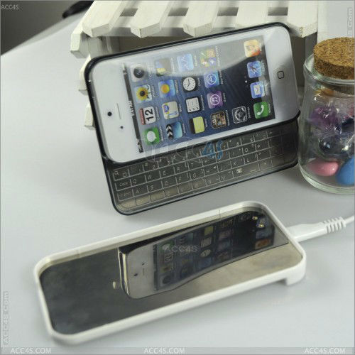 For iPhone 5/5S Slide Wireless Bluetooth Keyboard Case P-IPH5BLUEKB0012