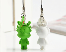 pvc rubber Animal Shape Mobile Phone Strap for promotion