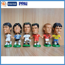 custom 3d soccer player action figure/OEM plastic action figures plastic toy football player manufacturer