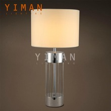Creative Lighting For Restaurant Silver Metal Fabric Table Lamps
