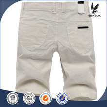 Straight men's beach pants white linen slacks shorts