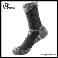Morewin brand Male Crew Soks Wool Men Thermal Ski Knee High Athletic Socks