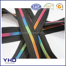 colorful rainbow teeth nylon zipper