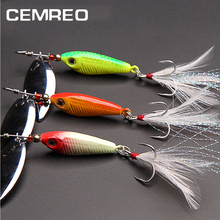 CEMREO 8.5g 16.5g Feather Hook Spinner <strong>Fishing</strong> Lure <strong>Bait</strong> for Trout