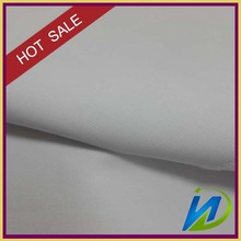 hot sale polyester 65% cotton 35% pure white woven fabric factory price