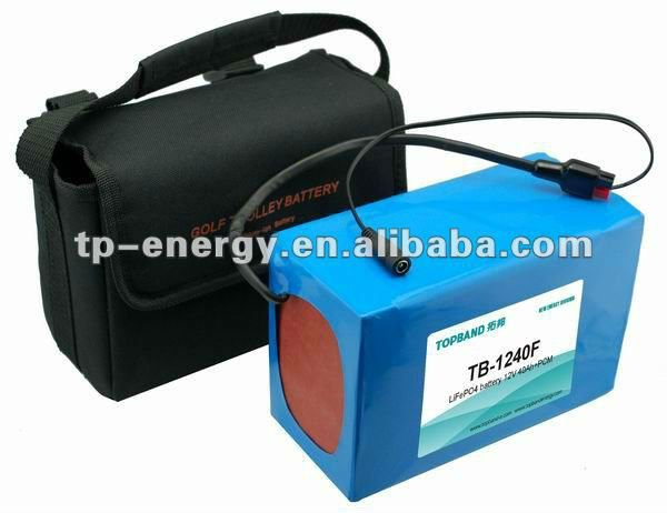 TOPBAND!!! 12v lifepo4 battery pack for golf trolley