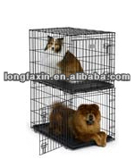 Stacking Dog Crate with Plastic Pan 36 inch