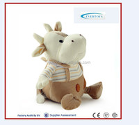 High quality low MOQ cow farm stuffed animals