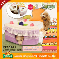 New Pet Products Round Soft Strawberry Bed Dog