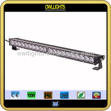 Factory price ! 100W Single Row 4WD 4x4 LED Light Bar CREE LEDs , Off road leg light bar driving bar 100w