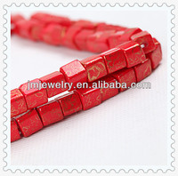 8mm vintage red beads festival square seed glass red beads for bracelet