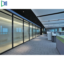 Space saving furniture office aluminium glass partition wall sound proof cubicles