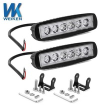 WEIKEN 18w Blue/White dual color led work light led auto system lighting driving light for cars,motorcycle,tractor, boat