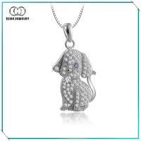 Best Gift for Girls 925 Silver Cute Puppy Pendant
