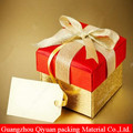 Custom Pretty Paperboard gift Paper Packing Box for Christmas with Ribbon