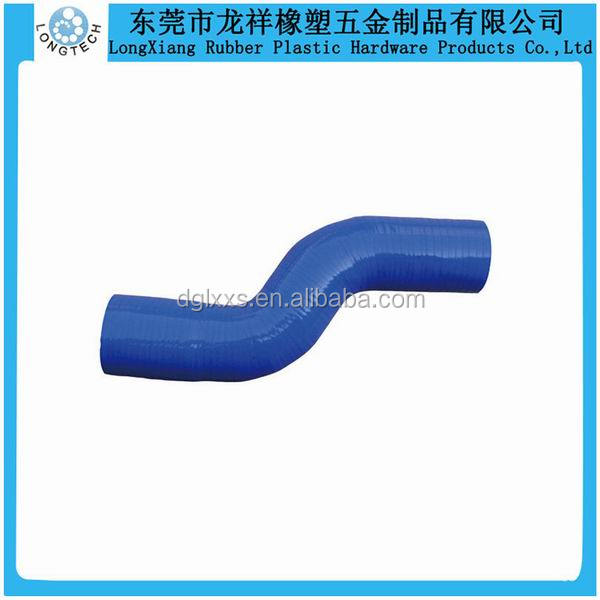 90 degree Custom Made Industry Thin Silicone Rubber Tube
