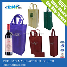 Recycled non-woven wine bags Fashion eco-friendly handbag nonwoven bag High quality 2 bottle wine bag