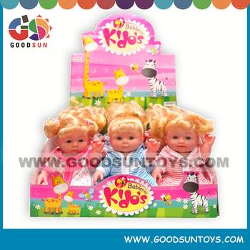 Hot item educational toys for baby 9 inch dolls with golden hair