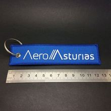 custom color warning embroidery fabric keychain, flight promote gifts key chains,personalized design ribbon keychains