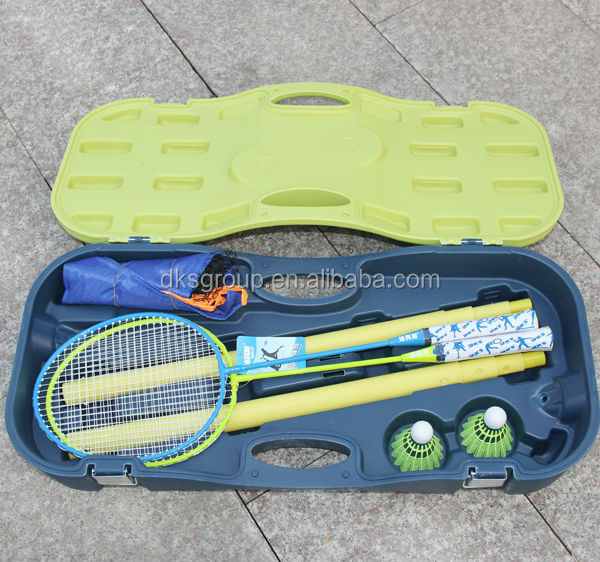 Badminton Compelete Set with Rackets, Badminton net and poles