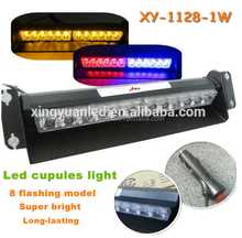 Hot sale 12W High Power Strobe Flashing windshield emergency warning suction cup visor 12V led dash deck light bar