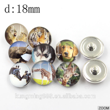 18MM Crystal Jewelry Animal Shaped Snap Button For Bracelet