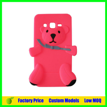 Silicone mobile 3d Bear phone case for Samsung galaxy s4 i9500 cell phone cover case back cover