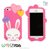 beautiful silicone mobile phone back cover from silicone phone case maker