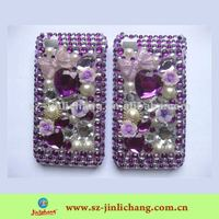 Heart shape Rhinestone Mobile Phone Case for iPhone 4