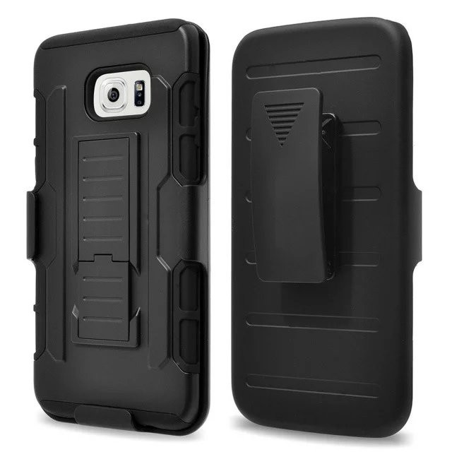 Factory Directy Shockproof Rugged Stand Back Black Hybrid Case for Samsung Galaxy S5