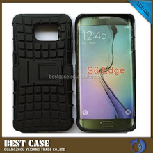 Factory price Rugged TPU Plastic Hybrid Armor Case For Samsung Galaxy S6 Edge G9250